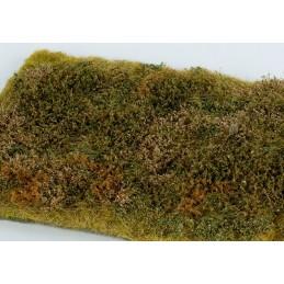 MS-F573 Model Scene F573 grass mats premium 18x28cm.Wild area with bushes - late summer