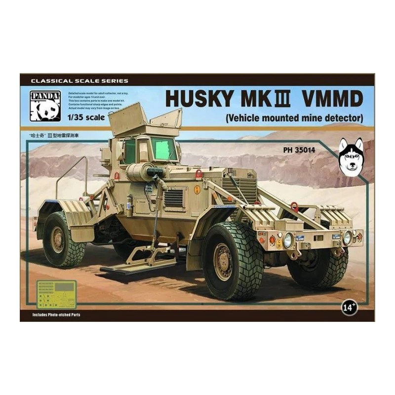 PH-35014 Panda Hobby 35014 1/35 HUSKY MK III VMMD (Vehicle mounted mine detector)