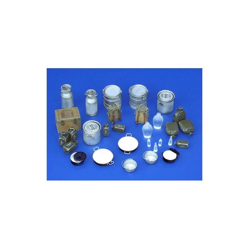 PL-116 Plusmodel 116 pentole, gavette, borraccie, bottiglie (tedesche WW II)
