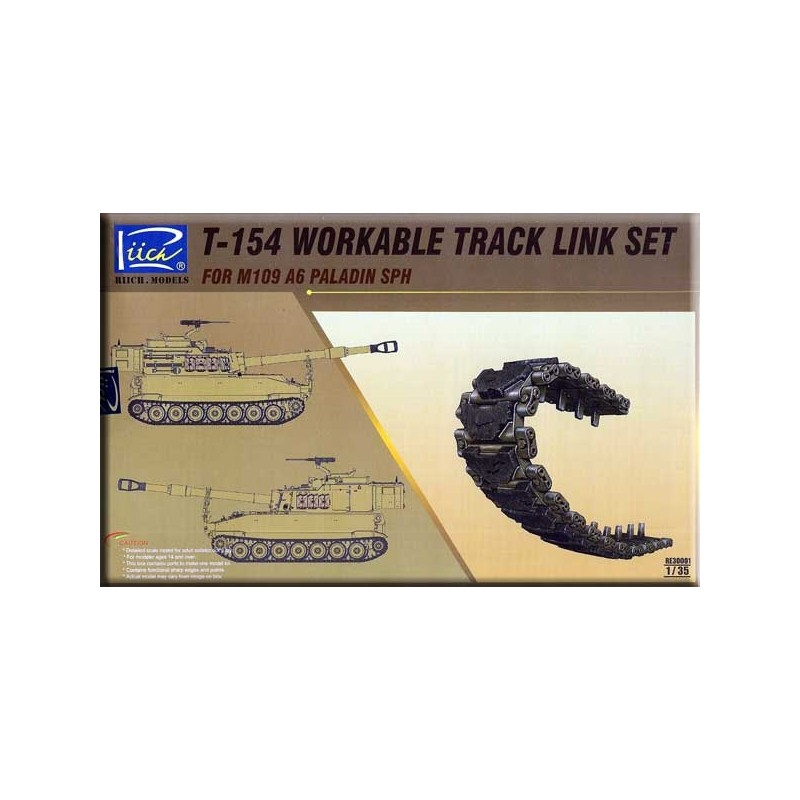 RC-30001 Riich.Models 30001 1/35 T-154 Workable track link set for M109 A6 PALADIN SPH