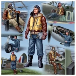 REV-02401 1/72 PILOTOS Y PERSONAL DE TIERRA DE ROYAL AIRFORCE