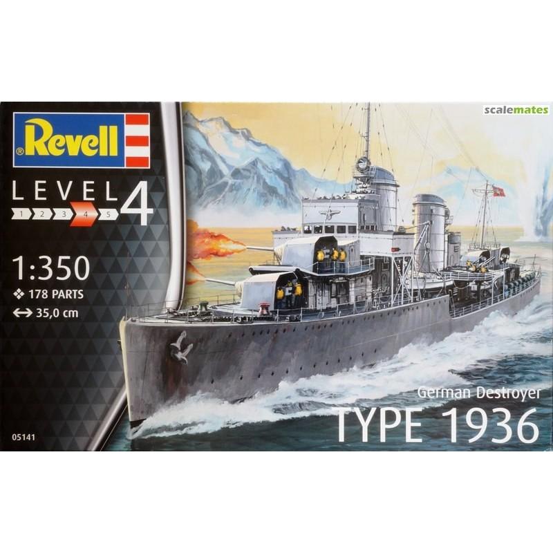 REV-05141 Revell 05141 DESTRUCTOR ALEMAN TIPO 1963