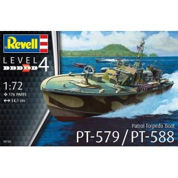 REV-05165 Revell 05165 1/72 Patrol Torpedo Boat PT-588/PT-579