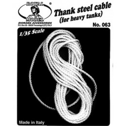 RM-063 royal model 063 1/35 TANK STEEL CABLES (FOR HEAVY TANKS)