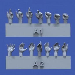 RM-839 royal model 839 1/35 Assorted hands set No.1