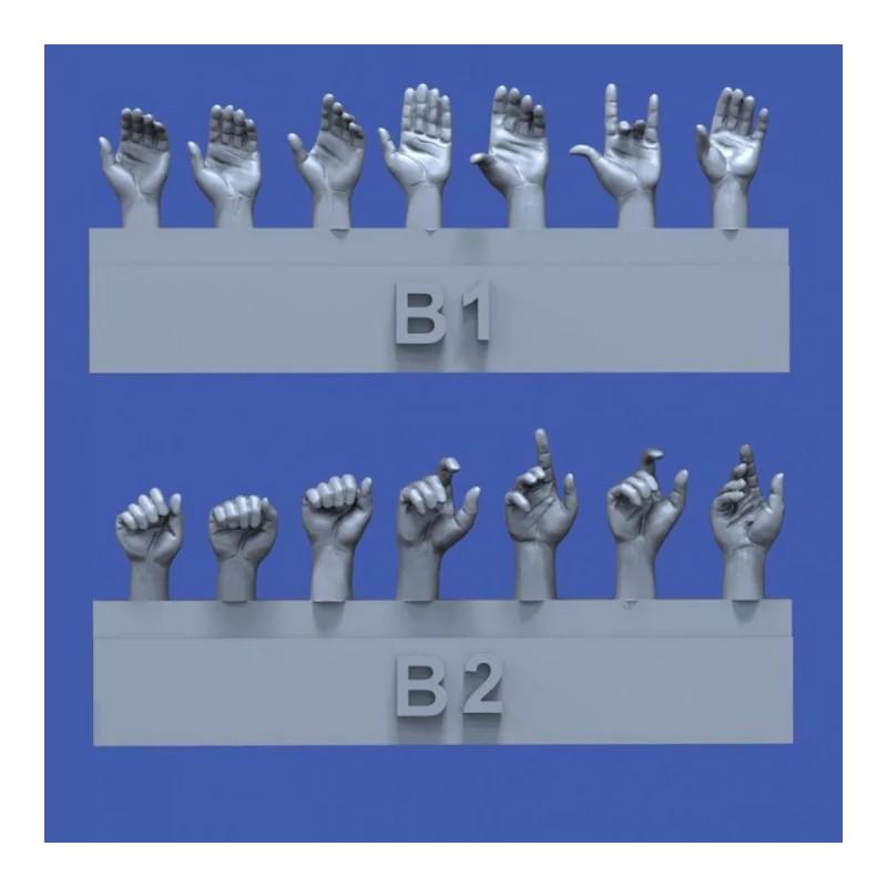 RM-840 royal model 840 1/35 Assorted hands set No.2