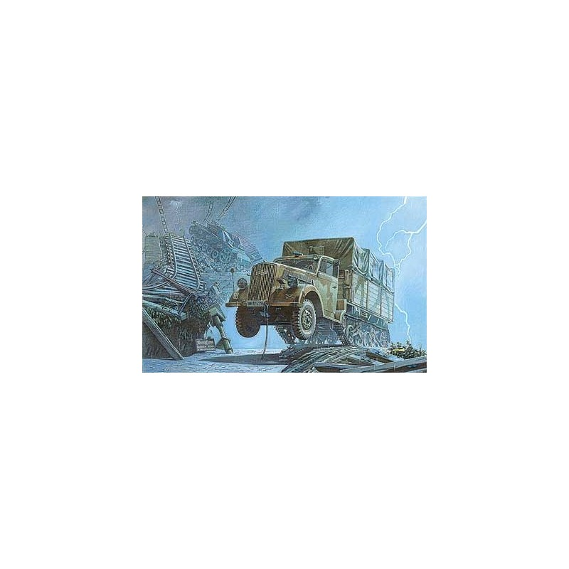 ROD-715 RODEN 715 1/72 .OPEL BLITZ MAULTIER SEMI-TRUCK