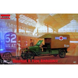 ROD-717 RODEN 717 1/72 Vauxhall D-type Ambulance