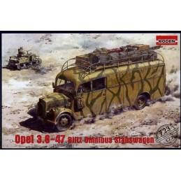 ROD-723 RODEN 723 1/72  OPEL 3,6-47 BLITZ OMNIBUS Stabswagen +fotograbados