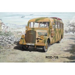 ROD-726 1/72 RODEN OPEL BLITZ OMNIBUS model W39 (Late WWII service ) +fotograbados