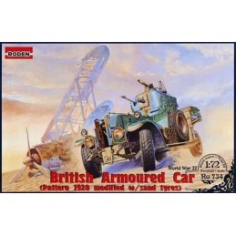 ROD-734 RODEN 734 1/72  British Armoured Car (Pattern 1920 Mk.II) - modified with sand tyres