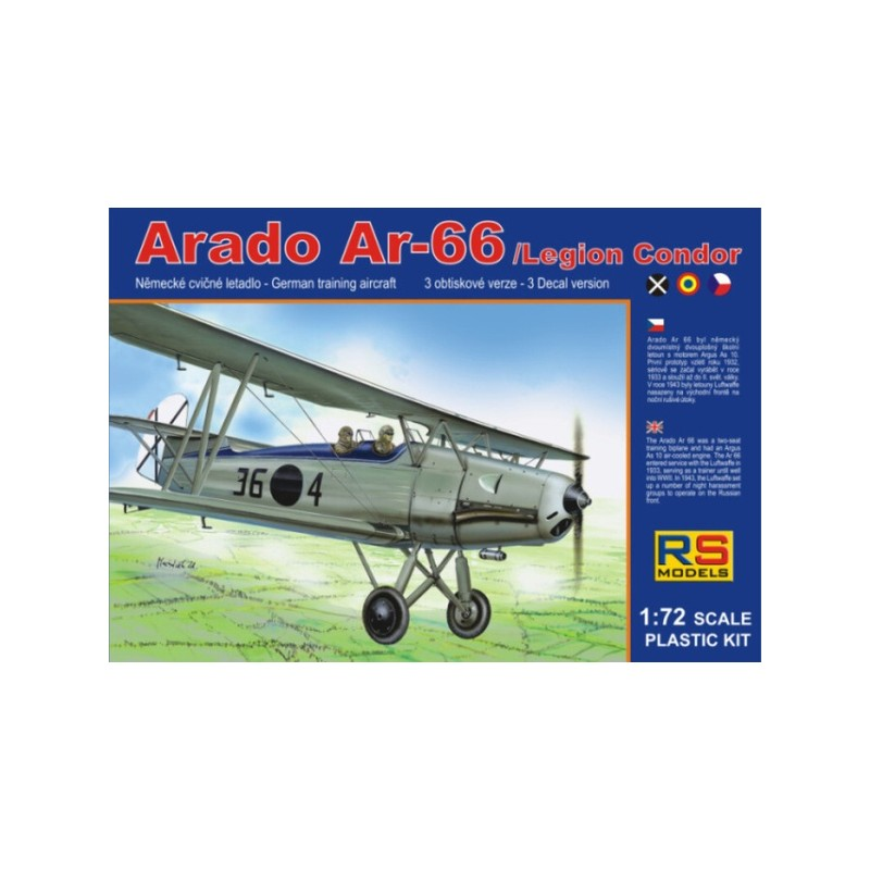 RSM-92060 RS Models 92060 1/72 German biplane Arado Ar-66 Legion Condor