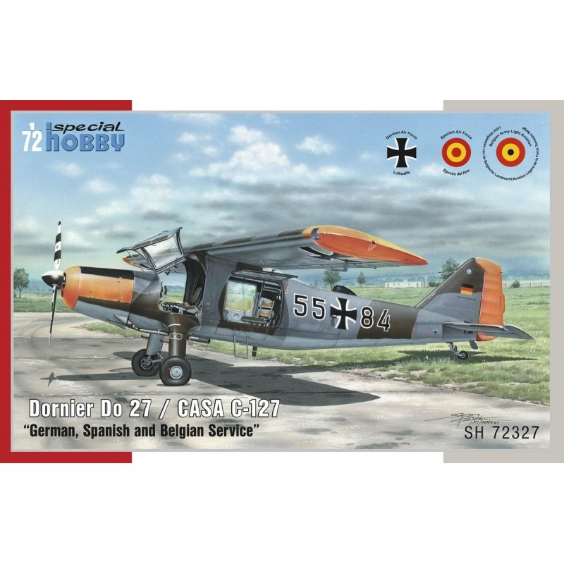 SH-100SH72327 Special Hobby 100SH72327 1/72 Dornier Do 27 German, Spanish and Belgian Service 1/72