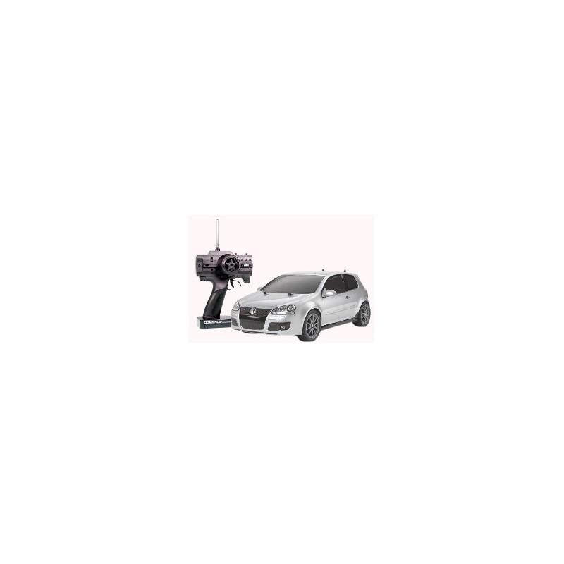 TAM-06011 XBS VOLKSWAGEN GOLF GTI PLATEADO CON LUCES LED