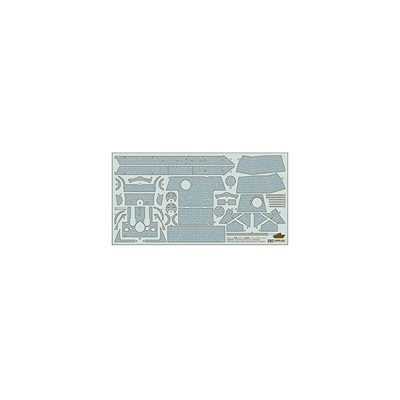 TAM-12646 Tamiya 12646 1/35 Zimmerit Coating Sheet for Panther Ausf. G Early Production