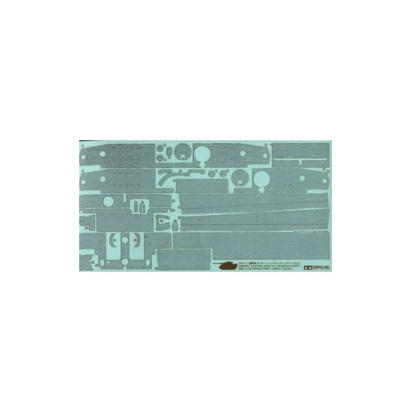 TAM-12647 TAMIYA 12647 1/35 Zimmerit Coating Sheet KIng Tiger I MId-Late Production
