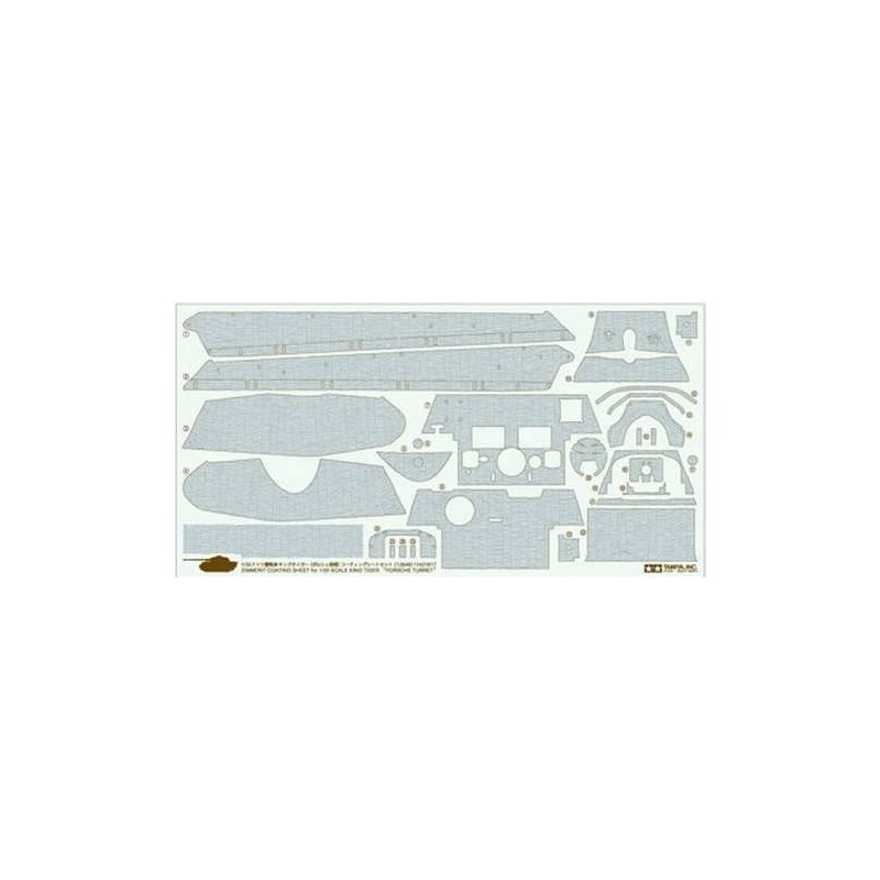 TAM-12649 Tamiya 12649 1/35 Zimmerit Coating Sheet - King Tiger Porsche Turret
