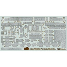 TAM-12661 Tamiya 12661 1/48 Zimmerit Coating Sheet - Panzer IV