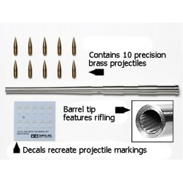 TAM-12670 TAMIYA 12670 1/35 Scale U.S. M40 Metal Gun Barrel Set