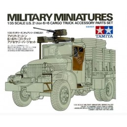 TAM-35231 Tamiya 35231 1/35 U.S. 2 1/2 Ton 6X6 Cargo Truck Accessory Parts Set
