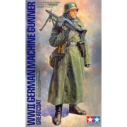 TAM-36306 1/16 Tamiya 36306 WW2 German Machine Gunner (Greatcoat)