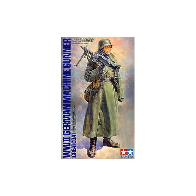 TAM-36306 1/16 Tamiya 36306 WW2 German Machine Gunner (Greatcoat)
