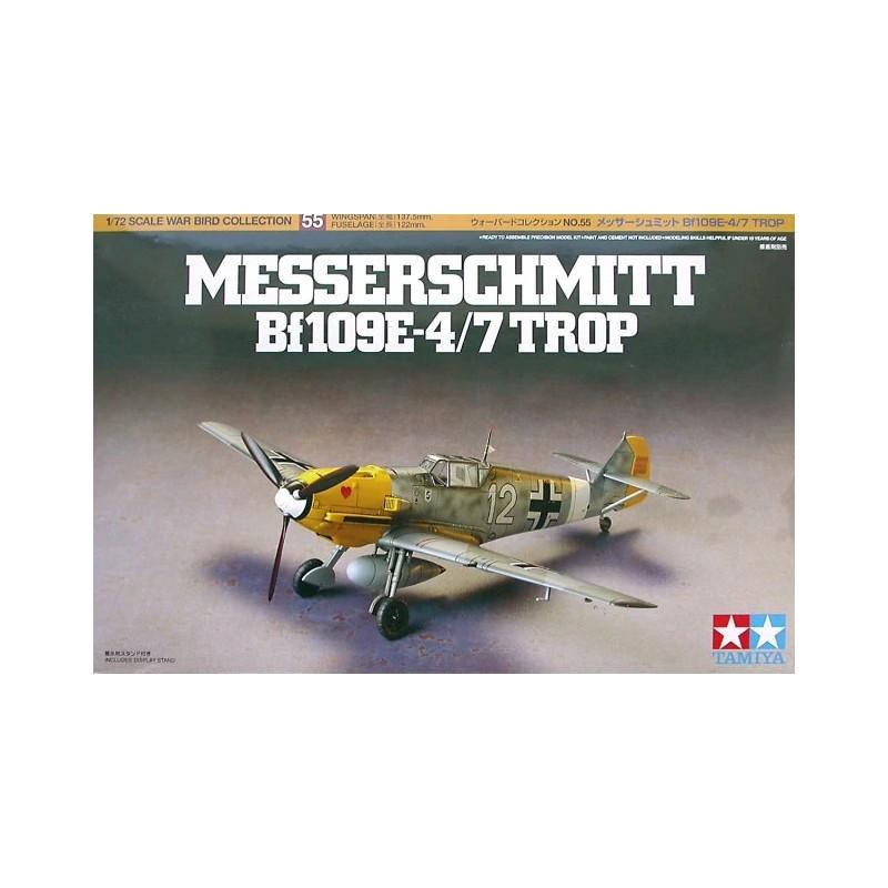 TAM-60755 Tamiya 60755 1/72 Messerschmitt Bf109 E-4/7 (TROP)