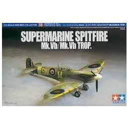 TAM-60756 TAMIYA 60756 1/72 Supermarine Spitfire (Mk.Vb/Mk.Vb TROP)