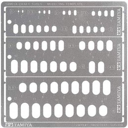 TAM-74154 Tamiya 74154 Modeling Template RR 1-6