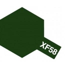 TAM-81758 tamiya PINTURA ACRILICA XF-58. VERDE MATE