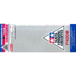 TAM-87054 Tamiya 87054 Finishing Abrasives P400 - 3 Sheets