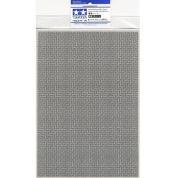 TAM-87169 Tamiya 87169 Diorama Material Sheet (Gray-Colored Brickwork A)