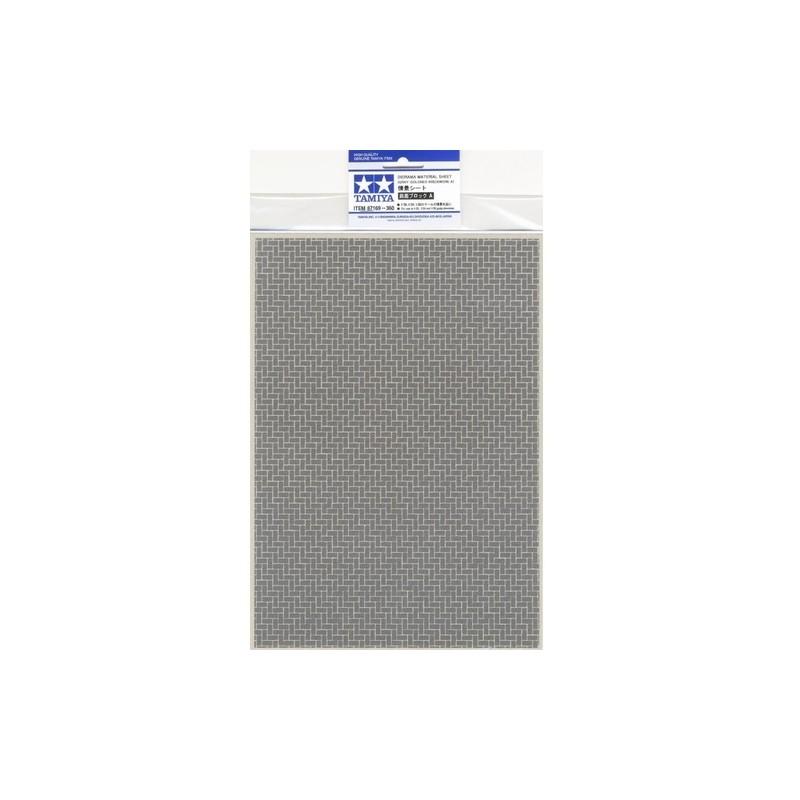 TAM-87169 Tamiya 87169 Diorama Material Sheet (Gray-Colored Brickwork A)