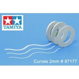TAM-87177 TAMIYA 87177 Cinta De Enmascarar Para Curvas 2mm - 20m de largo