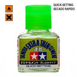 TAM-87182 Tamiya 87182 PEGAMENTO PARA MAQUETA EXTRA THIN RAPIDO (40 ml)
