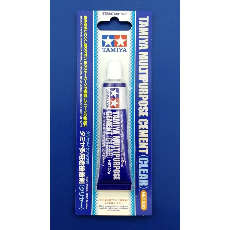 TAM-87188 Tamiya 87188 Multipurpose Cement (clear) for cementing clear  painted parts