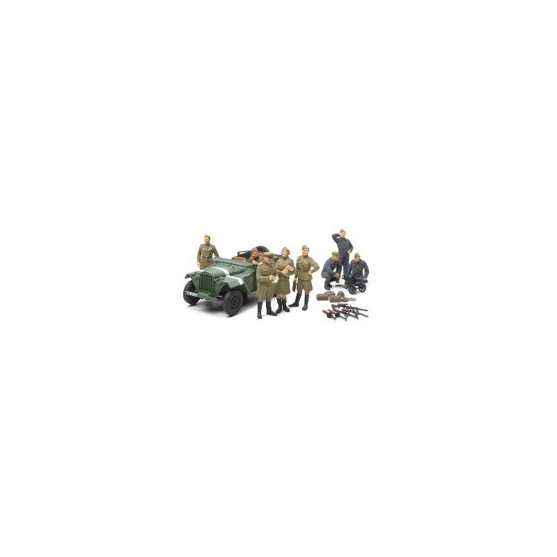 TAM-89767 1/48 GAZ-67B Y OFICIALES