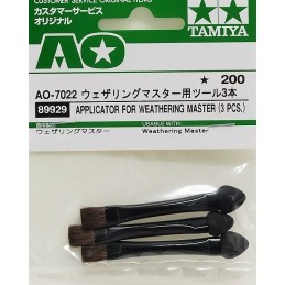 TAM-89929 Tamiya 89929 Applicator for Weathering Master (3 pcs)