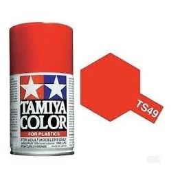 TAM-TS49 TAMIYA TS49 ROJO BRILLANTE. SPRAY 100 ML.
