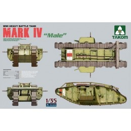 TKM-2008 1/35 British MK.IV Male Heavy Tank