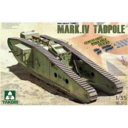TKM-2015 1/35  WWI Heavy Tank w/Rear Mortar Mark.IV Male Tadpole