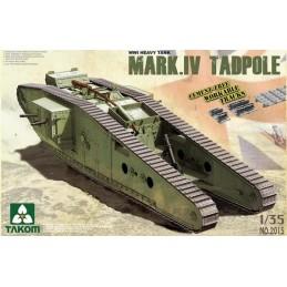TKM-2015 1/35  WWI Heavy Tank w/Rear Mortar Mark.IV Male Tadpole