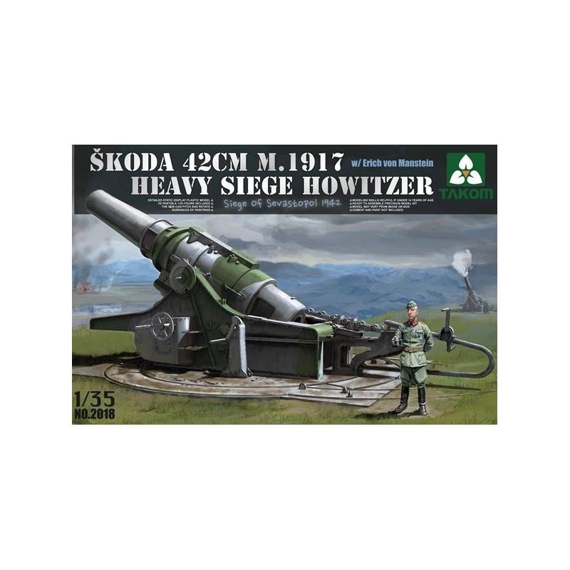 TKM-2018 1/35 Skoda 42cm M.1917 Heavy Siege Howitzer with Erich von Manstein