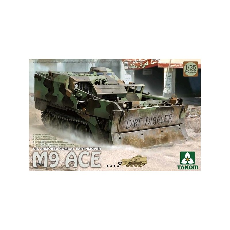 TKM-2020 TAKOM MODEL 2020 1/35 U.S Armored Combat Earthmover M9 ACE
