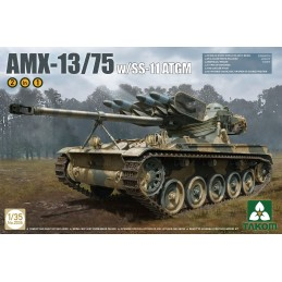TKM-2038 TAKOM 2038 1/35 French light tank AMX-13/75 SS11 ATGM