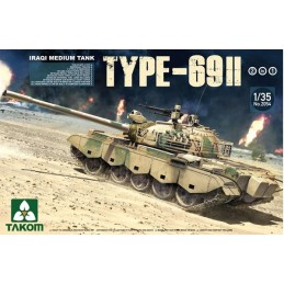 TKM-2054 TAKOM 2054 1/35 Iraqi Medium Tank Type-69 II (2 KIT in 1)