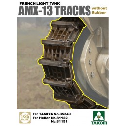 TKM-2061 TAKOM 2061   1/35 French Light Tank AMX-13 Tracks with Rubber