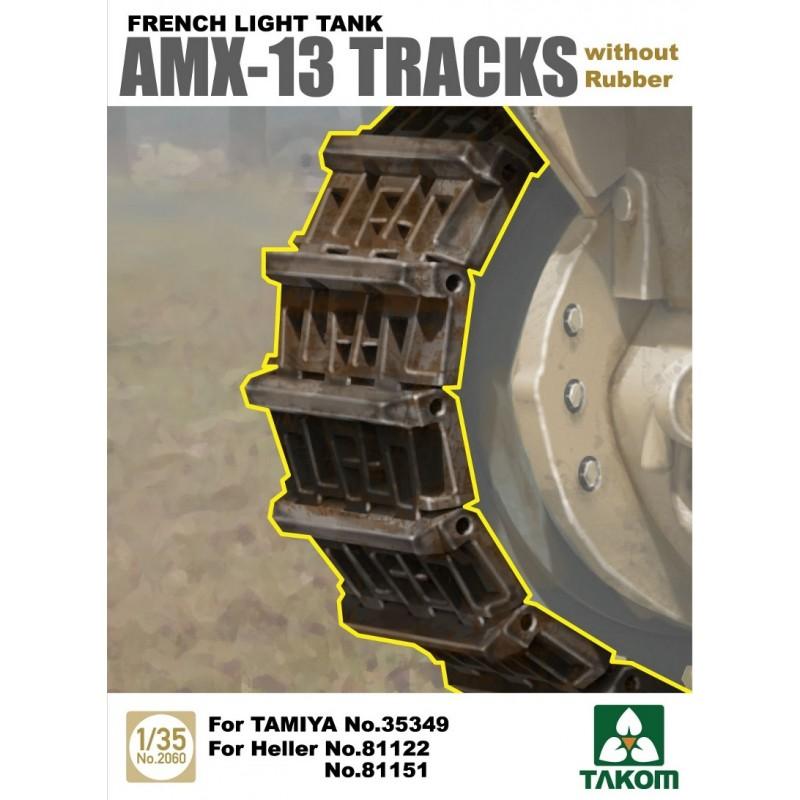 TKM-2061 TAKOM 2061   1/35 French Light Tank AMX-13 Tracks with Rubber