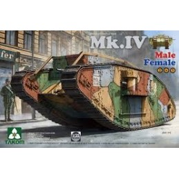 TKM-2076  takom 2076  BRITISH MK.IV MALE/FEMALE HEAVY TANK (2 in 1)
