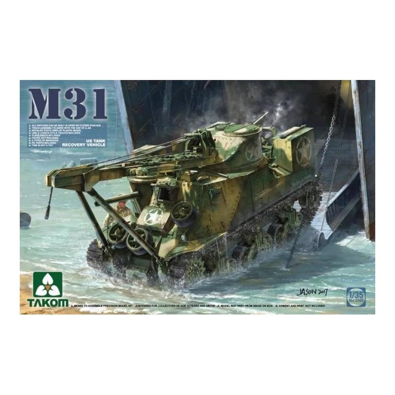 TKM-2088 Takom 2088 1/35 M31 US Tank Recovery Vehicle